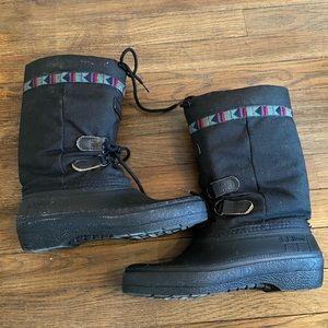 L.L.Bean Vintage Women's Black Snow Boots Size 8